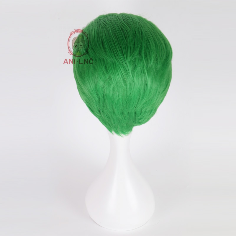 Anilnc Short Green Suicide Squad Joker Synthetic Cosplay Hair Wigs For Women Cosplayer