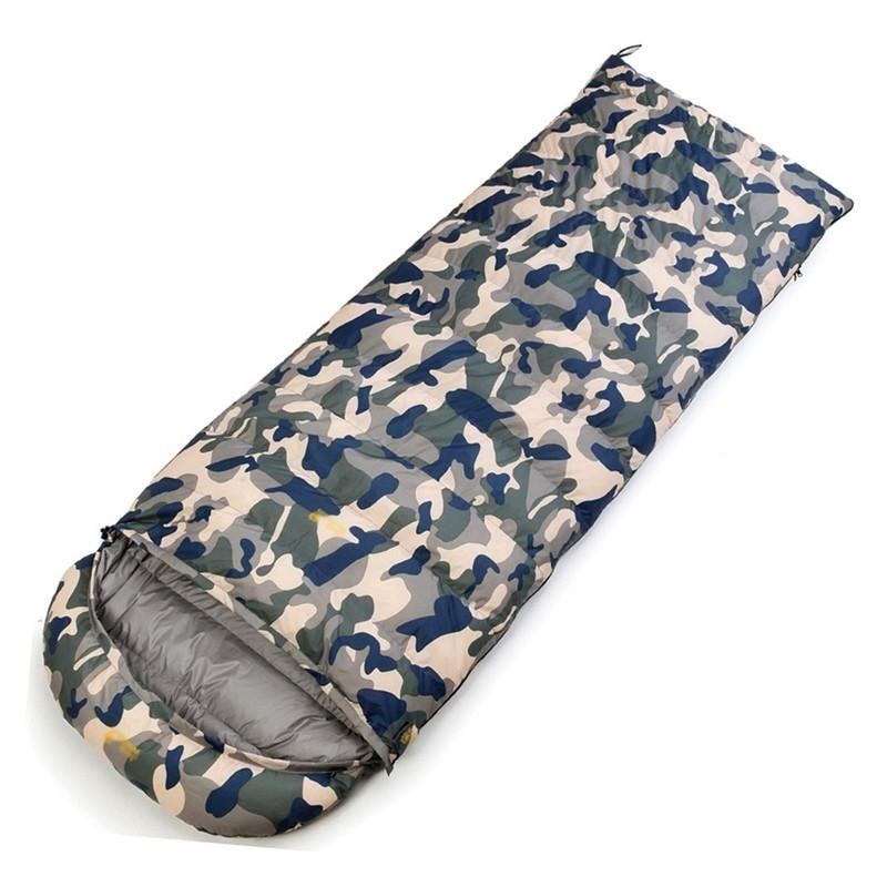 Mounchain White Duck Down Sleeping Bag Ultralight Outdoor Adult Camouflage Color Thick Warm Bivy Sack in Winter