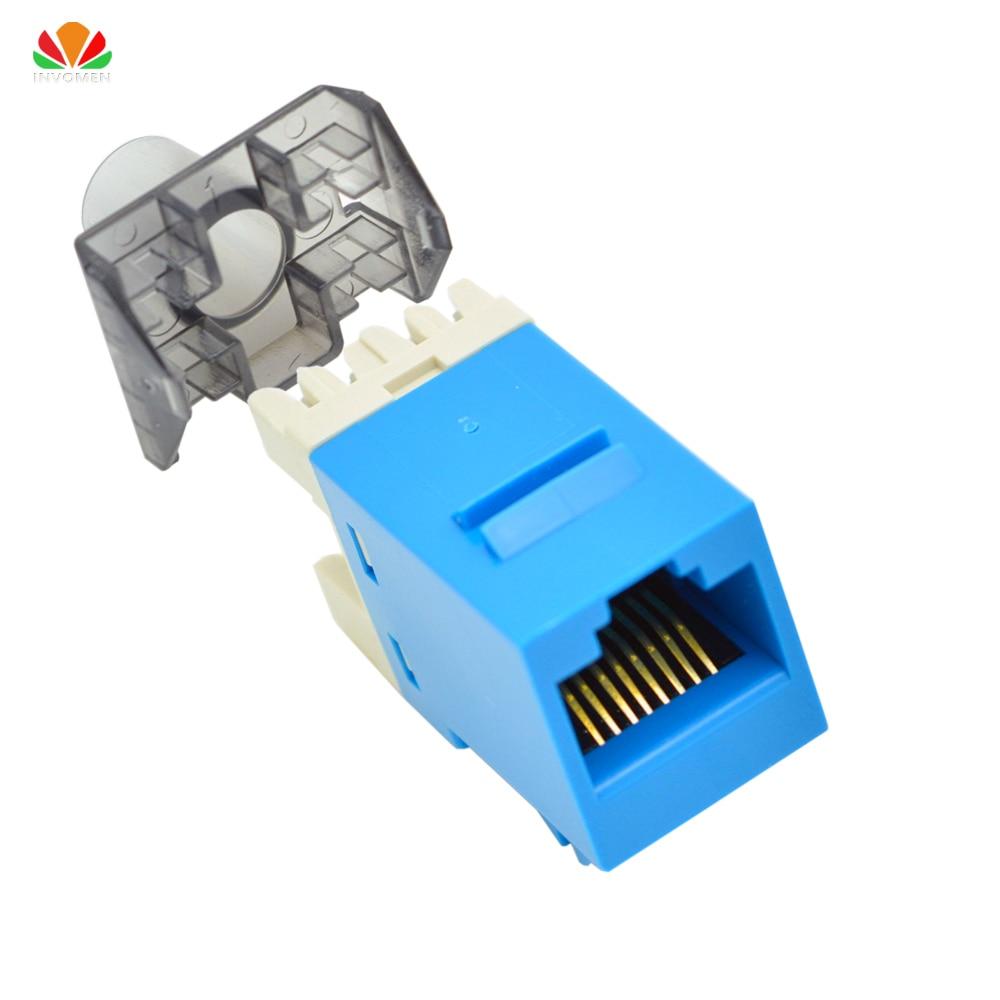 10 Pack Lot CAT5e Keystone RJ45 Ethernet Toolless Tool-Less Snap-In Jack White