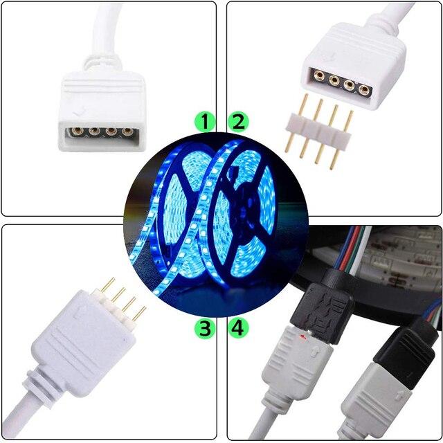 4 Pin 5 Pin RGB RGBW przedłużenie złącza kabel żeński 1 do 2 3 4 Splitter przewód do 5050 3528 RGB RGBW listwa led rgbww światło