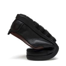 DENGKELAI Casula Shoes Men Wire Red Black Leather Shoes Male Wearable Anti-Slip Elegant Men Shoes