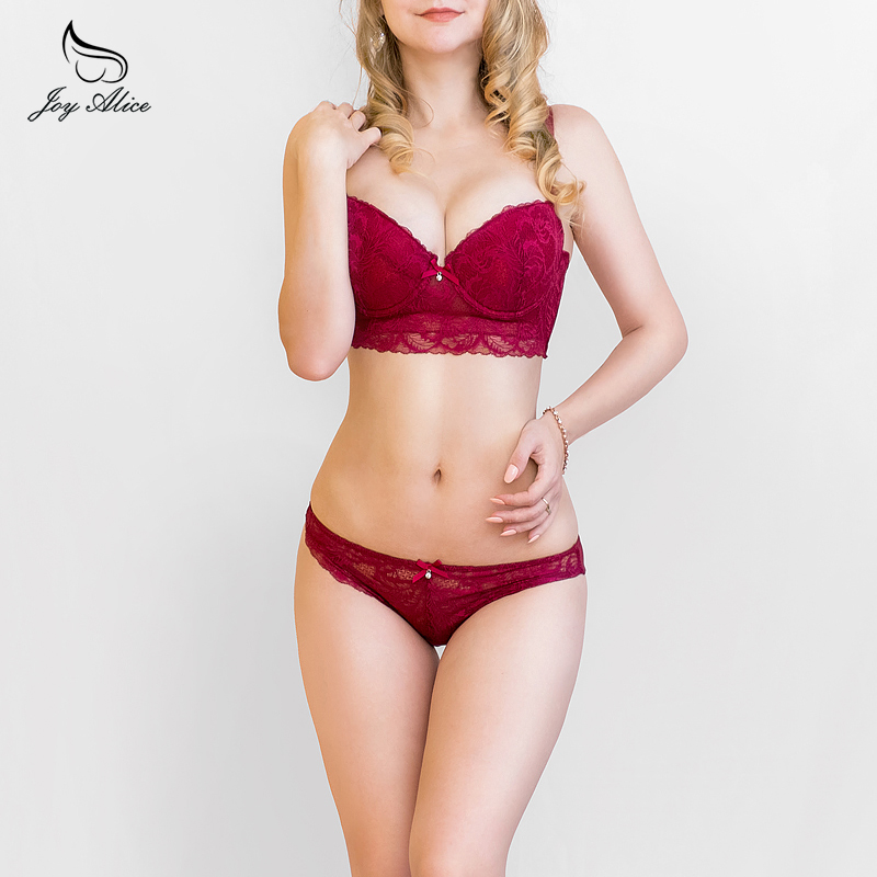 New Arrival Brand Bra set high quality lace underwear set thin comfort cup bra panties set intimates women lingerie 11956-4