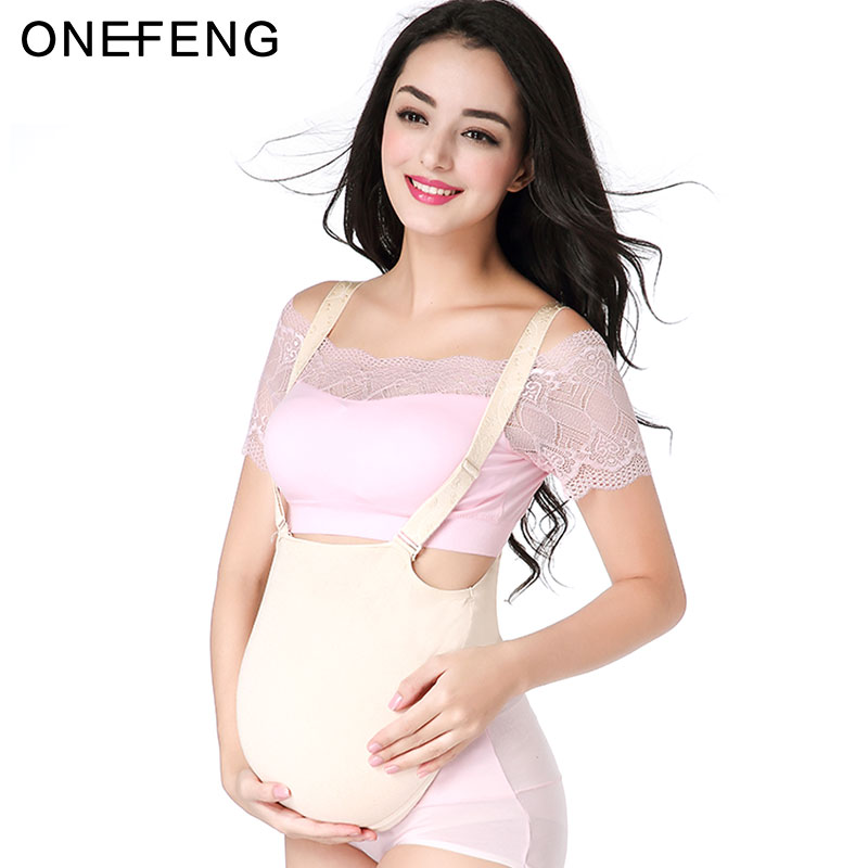 ONEFENG 2000 4600g pc Silicone Cloth Bag Belly Fake Belly for Cross Dresser Pretty for False