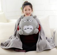 Plush 1pc 170cm soft totoro rabbit bear warm rest office cushion + blanket hight quality stuffed toy romantic gift for baby