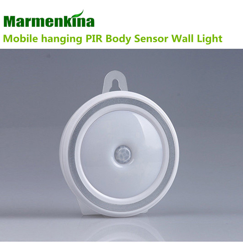 Mobile hanging / sticky PIR Body Motion Sensor Activated Wall Light Induction Lamp For Closet Corridor Cabinet wall lamp
