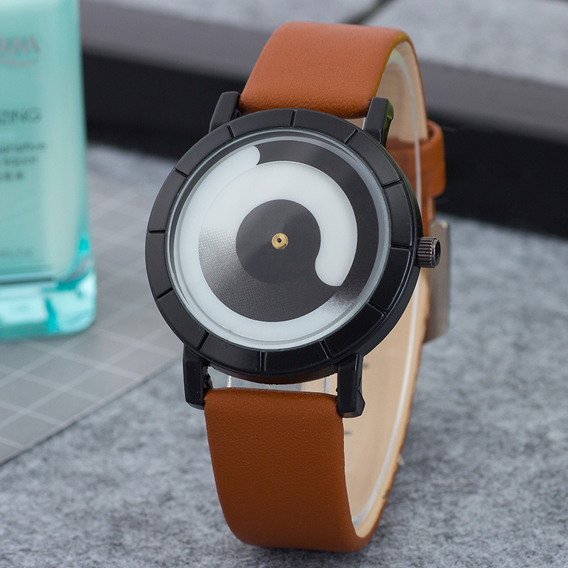 Top Famous Brand Men Women Watches Fashion youth Style Leather Strap Wristwatch Unique Pointer design Watch relogio masculino