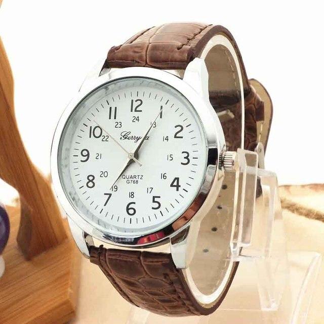 GERRYDA кварцевые часы женские спортивные наручные часы в стиле кэжуал женские часы Relogio Feminino мужской кожаный ремешок римские цифры Циферблат часы