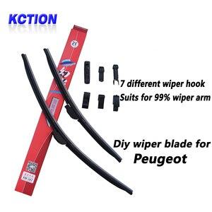 Car Windshield Wiper Blade For Peugeot 206,207,208,301,307SW,406,2008,4007,4008,Partner 3,Boxer,Bipper,Expert,brush,Bracketless