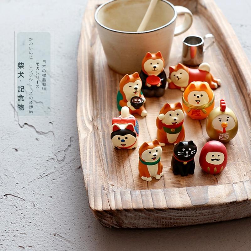 Japonês kawaii dos desenhos animados mascote sorte Maneki shiba inu festa de ano novo tapete almofada Do Assento móveis tela sakura figura brinquedos