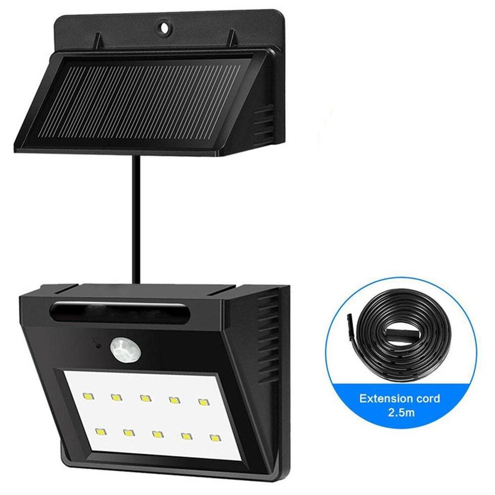 Outdoor lighting Solar PIR Motion Sensor led Light Separable Light solar Garden Security lamp Waterproof Wireless Wall Lamp