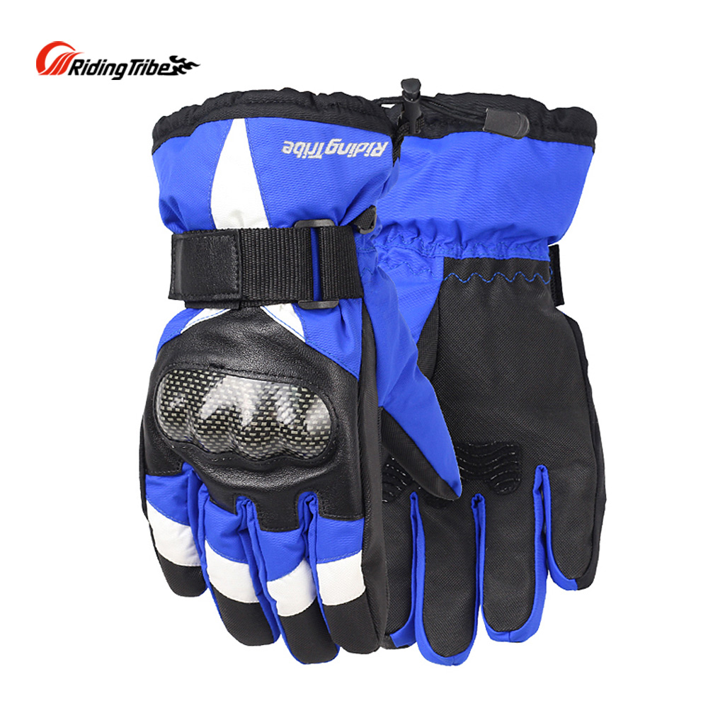 Riding Tribe Moto Gloves for Winter Mens Women Motorcycle Guantes Water-proof Racing Skiing Protective Gear Hands Guards HX-03