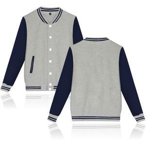 Image 2 - Chaqueta de béisbol de color puro de alta calidad caliente de cuello alto Casual moda invierno/otoño abrigos gruesos de talla grande personalizados