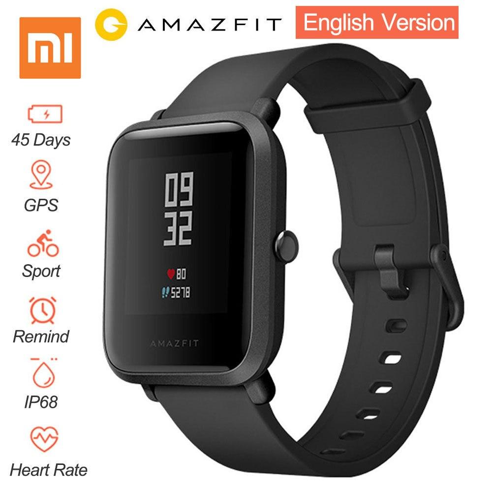 Английская версия Смарт часы Сяо mi Amazfit Bip Хуа mi темп Lite IP68 gps Gloness Smartwatch сердечного Gloness 45 дней в режиме ожидания