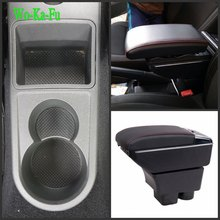 цена на For VW Rapid armrest box central Store content Storage box with cup holder ashtray USB interface