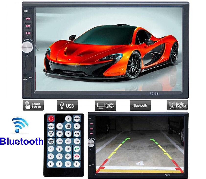 "New 7012B Car MP3 MP5 Player Car Radio Player 1080P Car Bluetooth Audio 7"" HD Radio In Dash Touch Screen Stereo USB 2DIN"