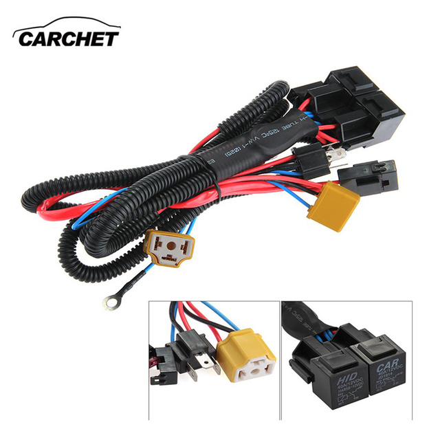 carchet universal h4 9003 headlight booster wire cable harness rh aliexpress com