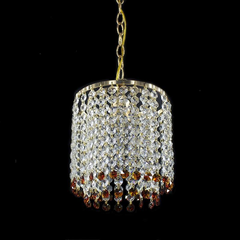 Modern Crystal Gold Color Lustre Chandelier Fixtures E27 LED Chandeliers Lights For Kitchen Bedside Living Room