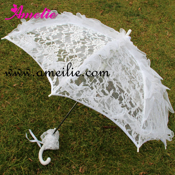 polyester lace handicraft baby shower umbrella wedding party bride lace umbrella parasol 5pcs lotchina