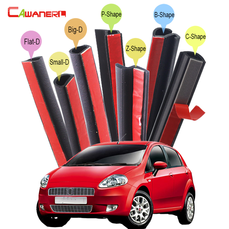 Cawanerl For Fiat Punto Uno Panda Viaggio Ottimo Car Rubber Seal Sealing Strip Kit Sound Control Seal Edge Trim Weatherstrip for fiat punto fiat 500 stilo panda small hole ventilate wear resistance pu leather front
