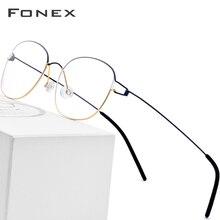 b5631c1c7 سبائك التيتانيوم النظارات البصرية إطار الرجال النظارات الطبية الكورية  الدنمارك النساء العلامة التجارية مصمم قصر النظر
