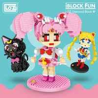 Loz Blocchi di Diamante Del Fumetto Luna Chibi Giapponese Anime Action Figures Luna Gatto Mattoni da Costruzione Fai da Te Giocattoli di Carattere per I Bambini Kid