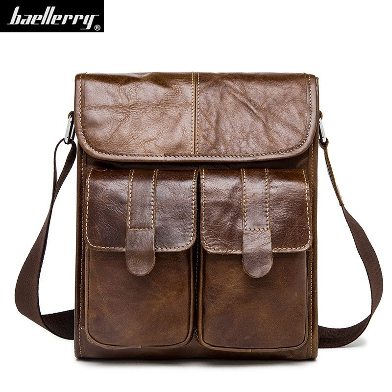 crazy horse Genuine Leather Men bags Fashion Brand Designer Handbag Shoulder business Retro Cow Bag Men Messenger Bags Briefcase vintage genuine leather men shoulder bag briefcase bags crazy horse oil wax leather brand business handbag available for a4
