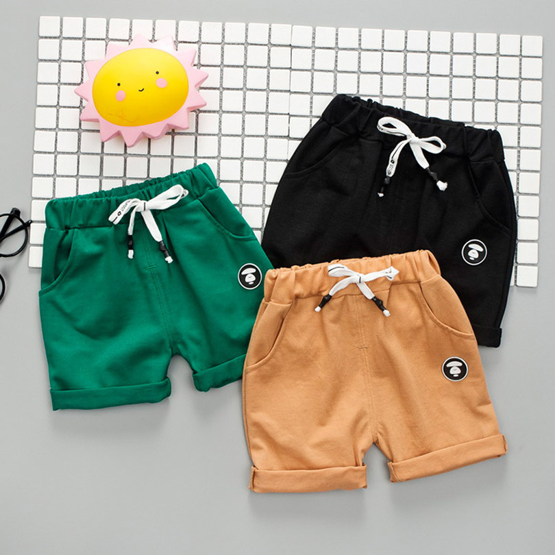 Summer Thin Children Wear   Shorts   Boy Baby and Girl Pants Solid Color Cotton 1-4 Year Old Children's Leisure Pants Toddler Baby