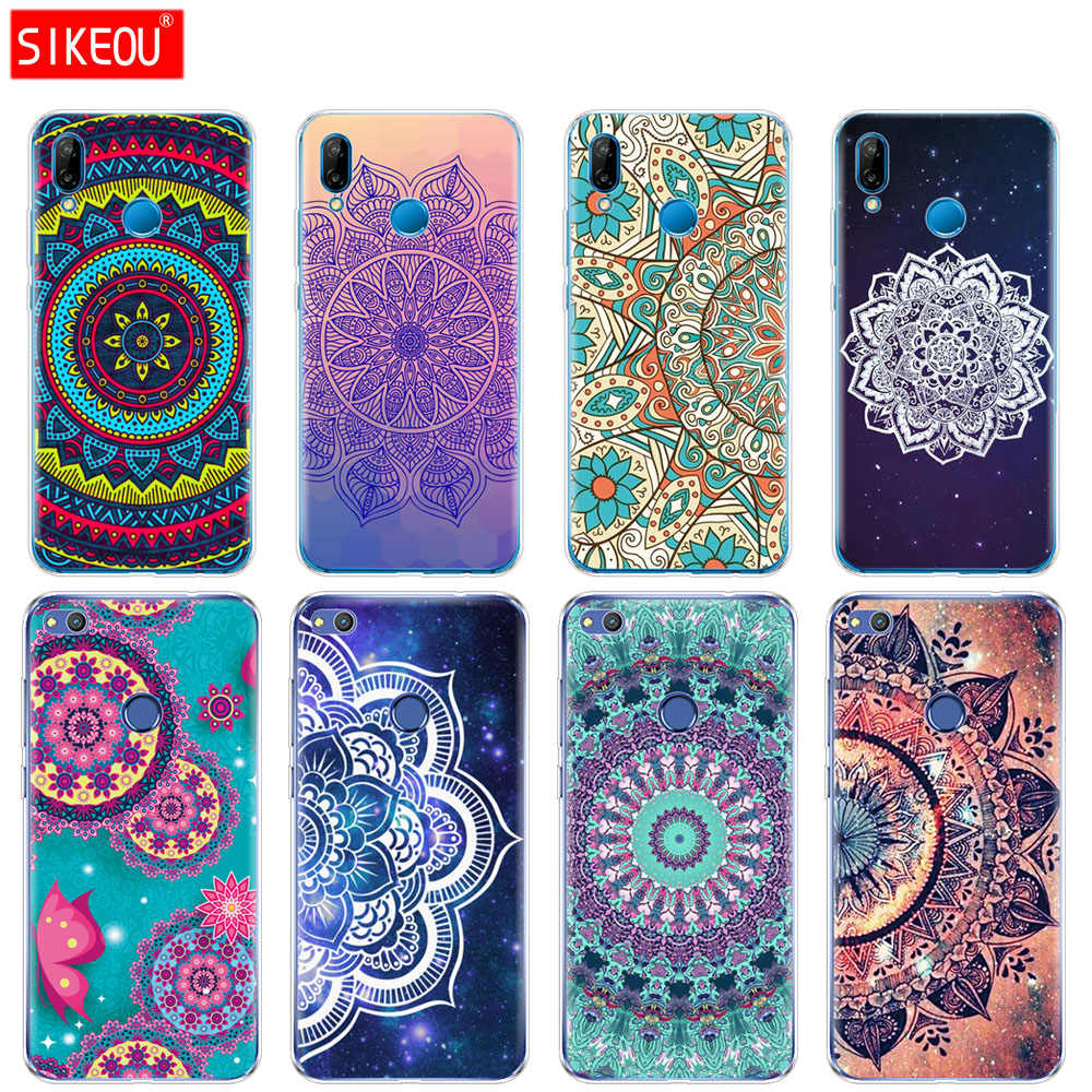 Silicone Cover Phone Case For Huawei P20 P7 P8 P9 P10 Lite Plus Pro 2017 P Smart 2018 mandala pantalla