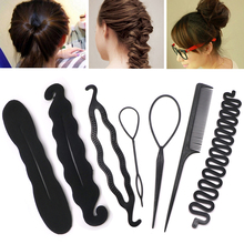 Multic Styles Magic Hair Styling Accessories Black DIY Tools Hair Pin Bun Roller Maker Hair Braiding Twist Curler Styling Tools женские пуховики куртки oem 4xl 5xl 6xl l xl 2xl 3xl 4xl 5xl 6xl