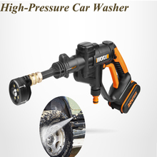2L/Min 20v High-pressure Car Washing Machine Wireless Household Charging Water Gun Water Pump Lithium Battery Power Tools WG629E цена