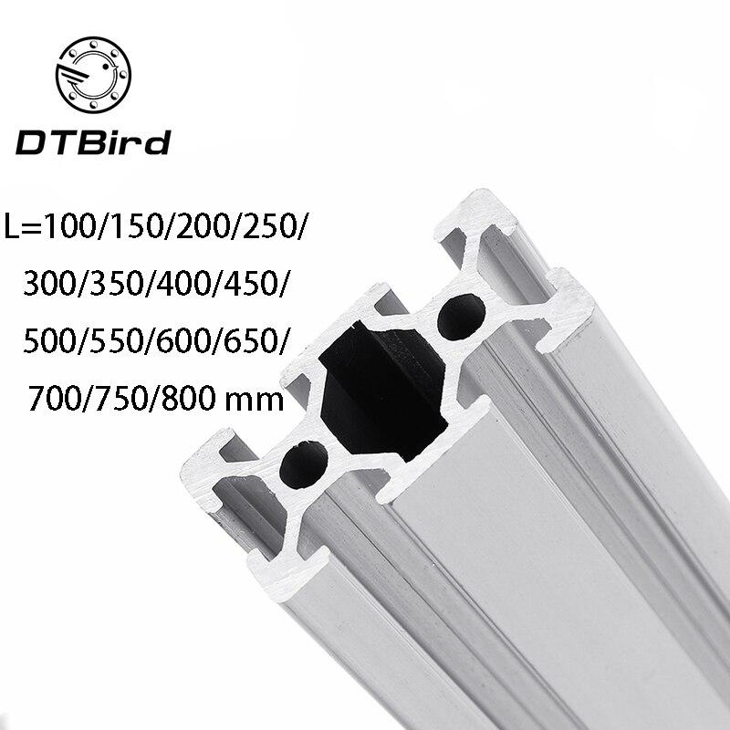 Детали 3D принтера 2040 L = 100 ~ 800 мм алюминиевый профиль Европейский стандарт анодированный линейный рельс алюминиевый профиль 2040 экструзия