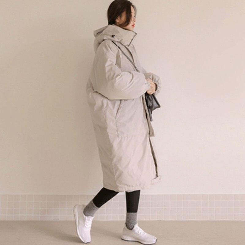 Женские зимние куртки размера плюс, повседневное пальто, женская парка с длинным капюшоном, утолщенная теплая Женская парка с хлопковой под... - 2