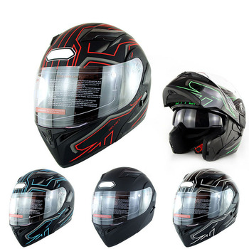 1pc Motorbike Helmet Full-Face Cover Dual Visor for Racing Safe Accessories Car Styling