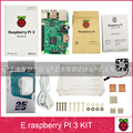 E Raspberry Pi 3 Model B starter kit-pi 3 board / pi 3 case /American standard power supply/heat sink