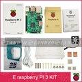 E starter kit-pi Raspberry Pi 3 Modelo B 3 placa/pi 3 case/padrão Americano cabo de alimentação supply/dissipador de calor