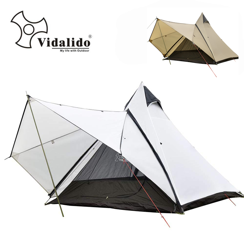 Vidalido Top grade Luxury Indian yurt tent Large multiplayer aluminum pole outdoor camping double layer dome