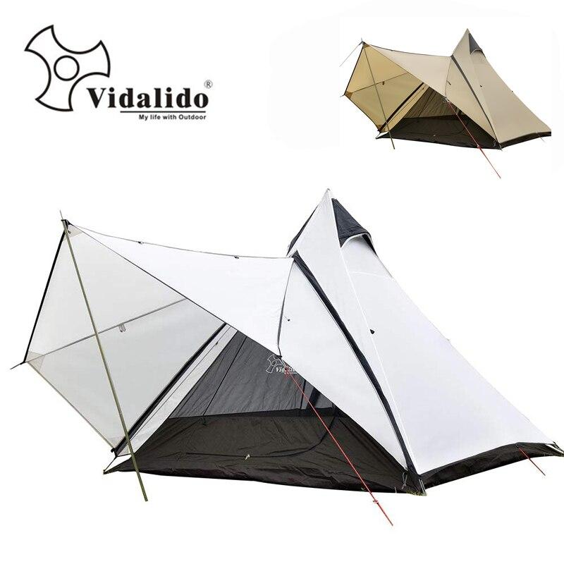Vidalido tente de yourte indienne de luxe de qualité supérieure/grande tente de dôme double couche de camping en plein air de poteau en aluminium multijoueur