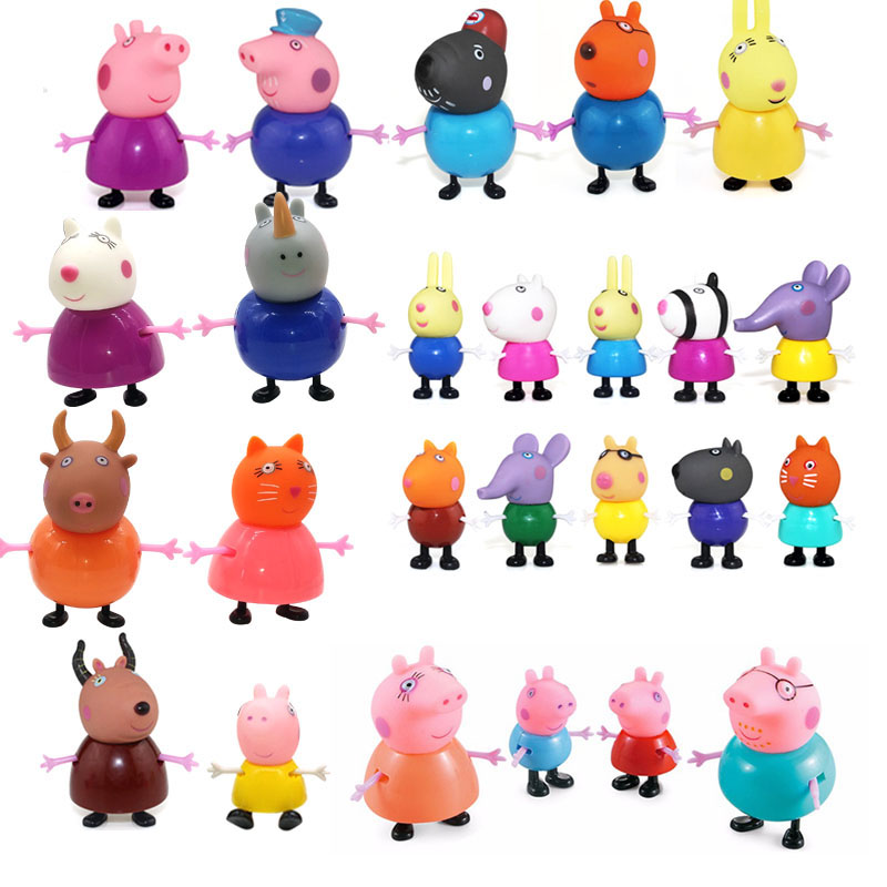 New full range Toys PVC Action Figure peppa pig Toy Juguetes Baby Kid Birthday Gift brinque aiboully full range peppaed pig toys pvc action figur toy juguetes baby kid birthday gift brinque