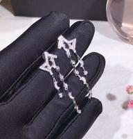Hot Brand Pure 925 Sterling Silver Jewelry For Women Sailor Moon Earrings AAA Cubic Zirconia Star Earring Silver Jewelry