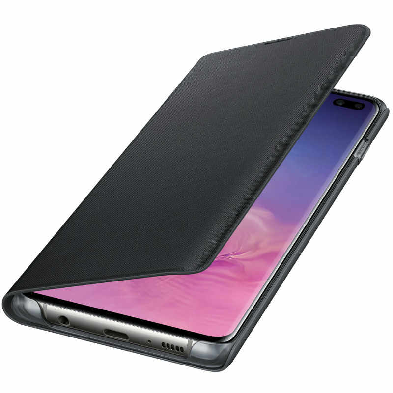 info for f2eda 84616 SAMSUNG S10 Case Official Original Galaxy S10+ LED Wallet Cover Flip Cover  Galaxy S10 Plus S10e Smart Card Pocket Leather Case