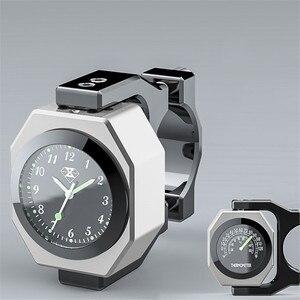 Image 3 - Universal Waterproof 7/8 Motorcycle Bike Handlebar Mount Clock Watch Luminous Clock with Waterproof Temp Thermometer