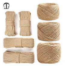 50m High Quality Handmade DIY Jute Hemp Rope of Wall Decoration for bakers twine garden room party craft decoration