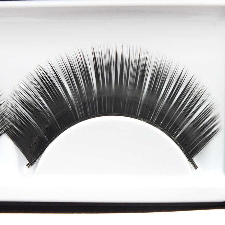 New 1 Pair Dense Black Stalk Eyelashes Korea NaturalNaked Makeup Long False Eyelash Handmake Eye Lashes Makeup Kit Gift #027