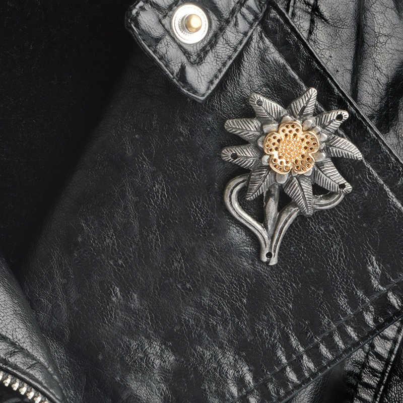 Edelweiss Mountain Troops Lencana Perang Dunia II Tentara Jerman Elite To COCK Up Pin Ikon Vintage Pin Lencana untuk Topi Hadiah untuk Militer Penggemar