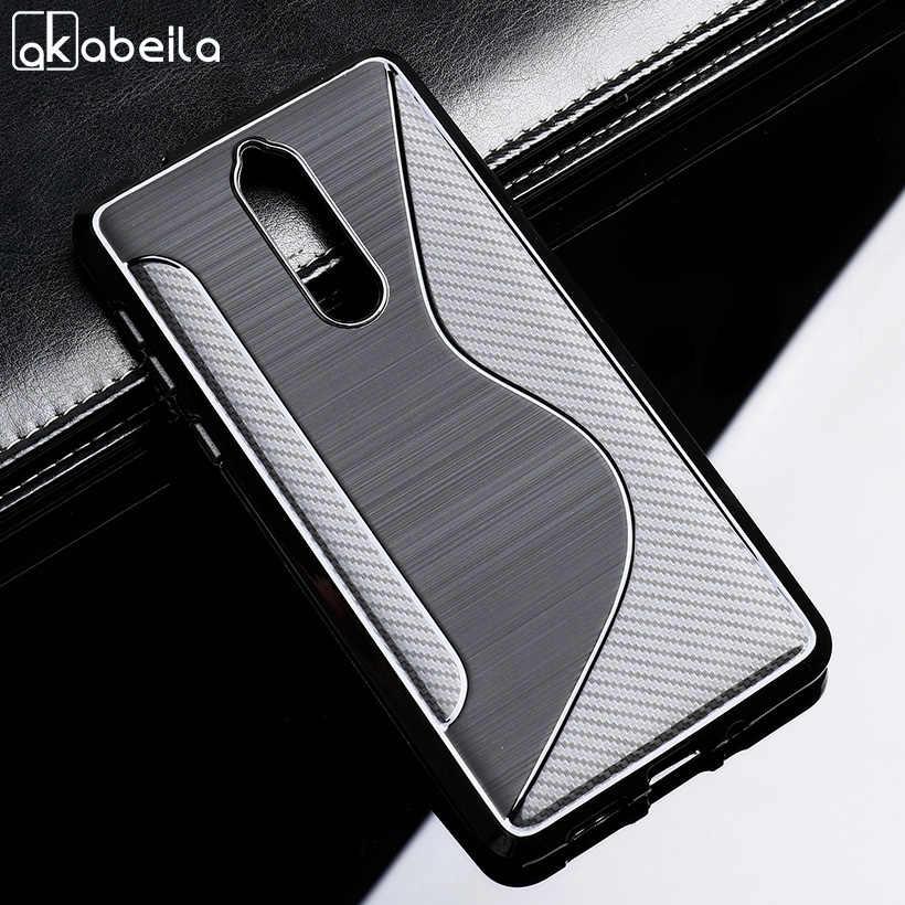 AKABEILA Sline Tpu ノキア 8 5.3 インチ S ラインソフトケースシンプルな携帯電話ケース nokia8 ため