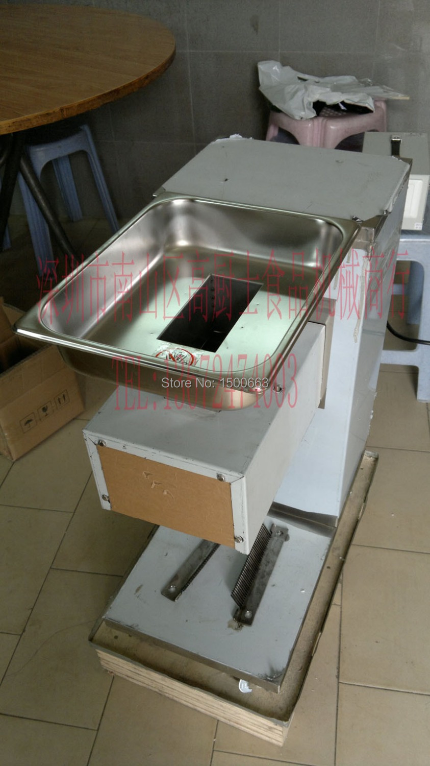 Free shipping 220v 110v QE meat cutter machine with pulley meat slicer All Stainless Steel Blades m75 750kgs pulley 304 stainless steel roller crown block lifting pulley factory direct sales all kinds of driving pulley