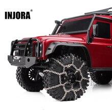 INJORA 2 шт. металлические 120 мм 1,9 дюйма шины цепи для 1/10 RC Рок Гусеничный Traxxas TRX-4 TRX4 осевой SCX10 90046
