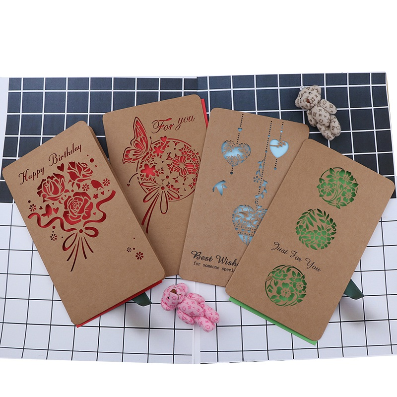 5pcs Vintage Hollow Out Paper Envelopes Wedding Party Invitation Envelope Greeting Cards New Years Valentines Gift Envelope