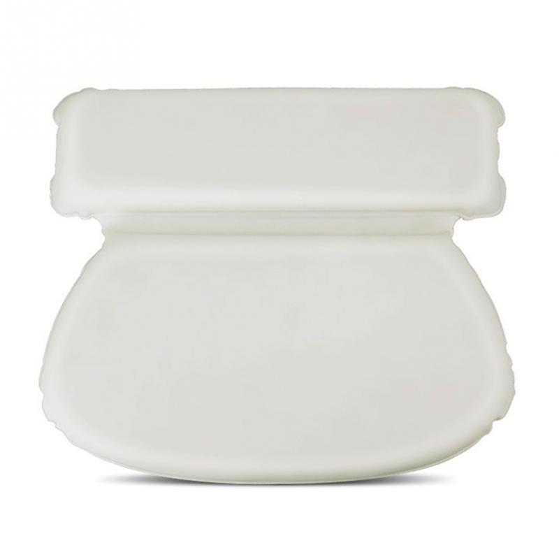 PU Round Soft Bathtub Pillow Thick Luxury Spa Bath Pillow Super Grip ...