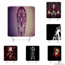 Custom Cool Pirate Skull Vintage Shower Bath Curtain Mildewproof Waterproof Polyester Various Sizes#0421-21-11(China)